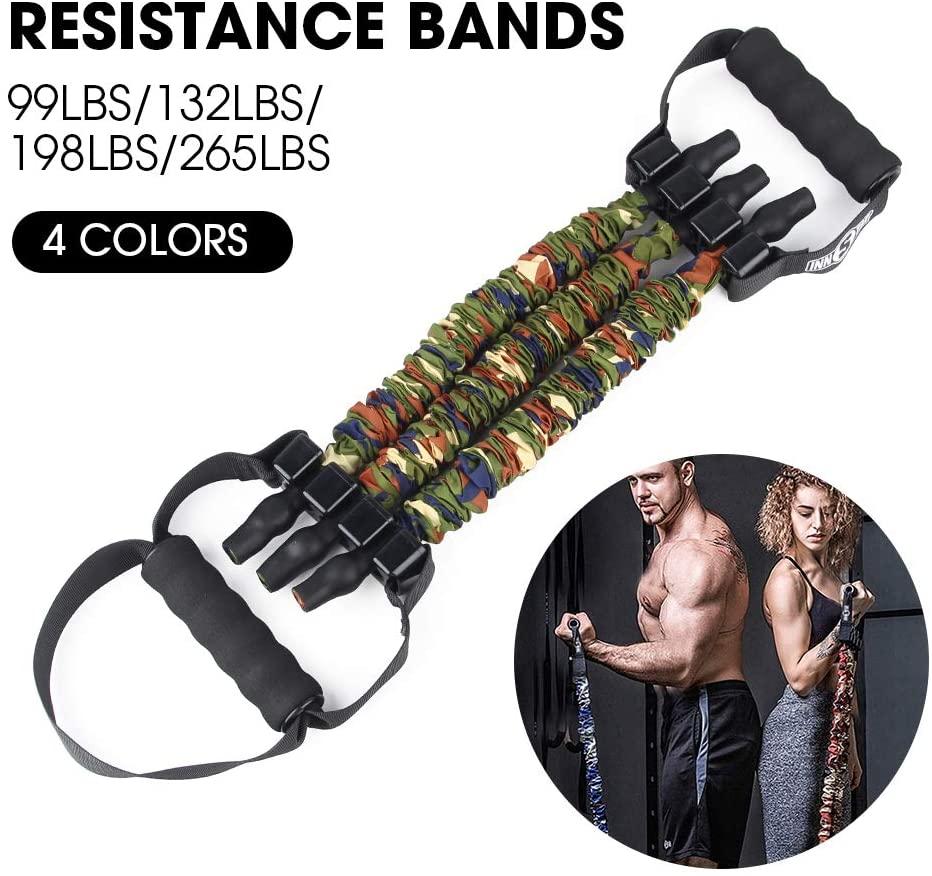 ELUCHANG Adjustable Exercise Resistance Band for Men Women