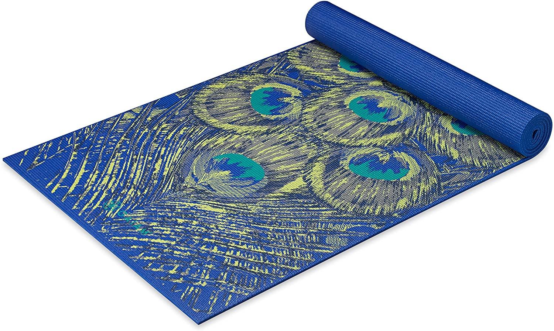 Gaiam Yoga Mat - Premium 6mm Print Extra Thick