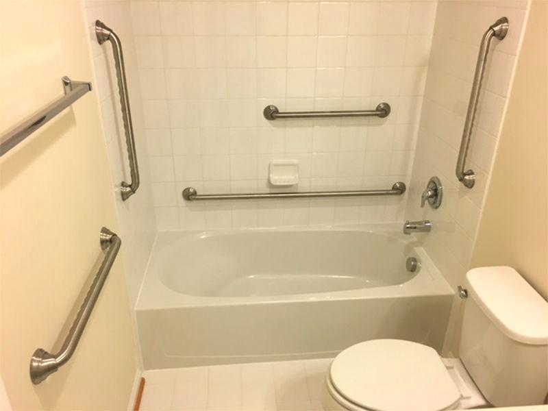 Grab bars should be set up at Suitable Point