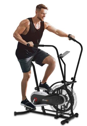 Ativafit Fan Bike Exercise Upright AirBike Indoor Cycling Fitness Bike