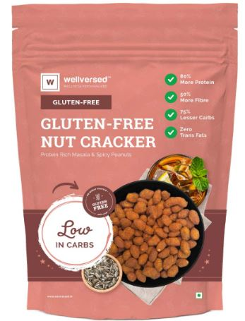 Wellversed Gluten Free Nut Cracker (350g) | Low Carb