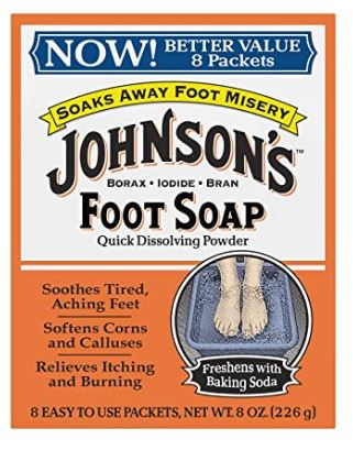 Johnsons Foot Soap Powder, 8 Packets