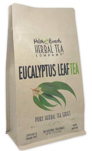 Eucalyptus Leaf Tea - Pure Herbal Tea Series by Palm Beach Herbal Tea Company (30 Tea Bags) 100% Natural