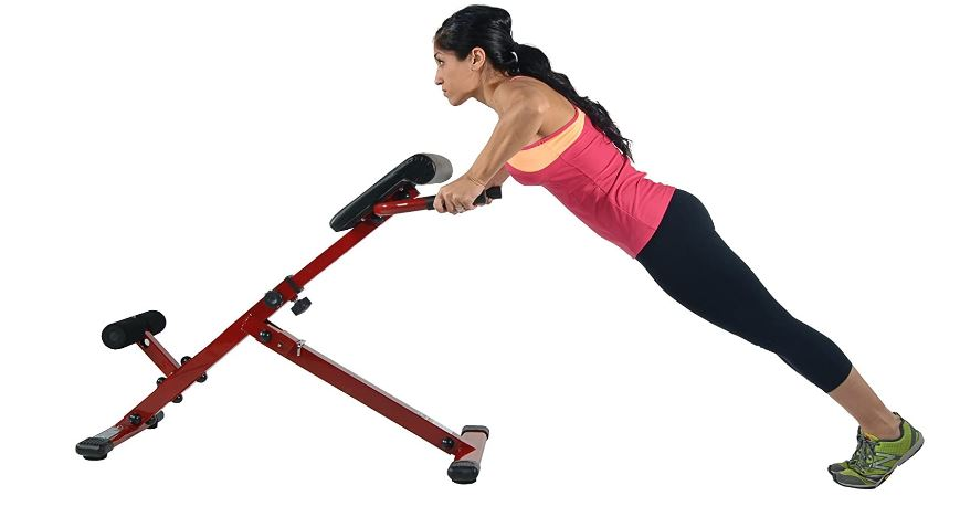 lower back extension machine